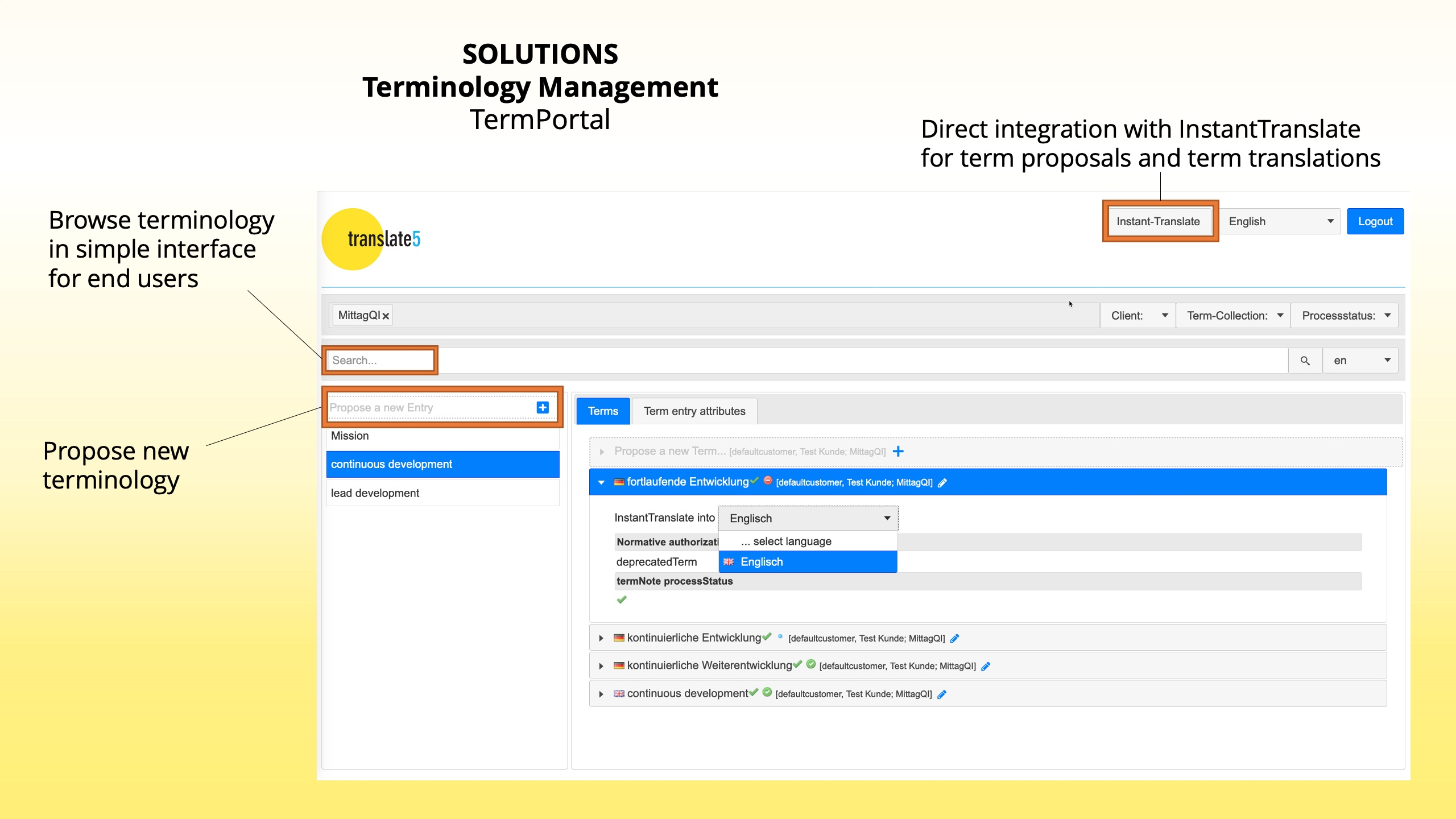 Terminology management with TermPortal
